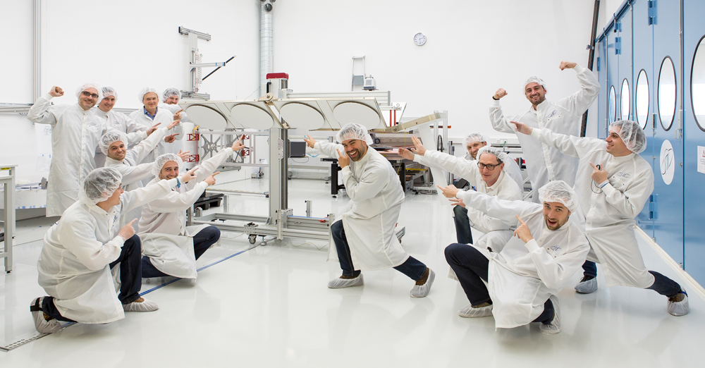 SpaceTech career engineer teamwork ICARUS demonstrator success cleanroom