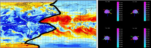 Albedo/IR Map (Left) & Thermal Simulation Output